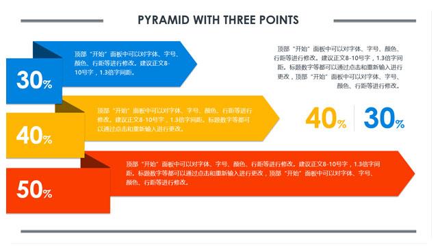 彩条三层层次关系PPT模板.jpg